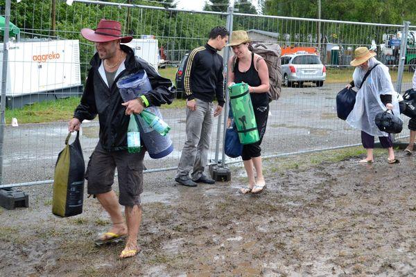 Les campeurs commencent à quitter le Masaucy.