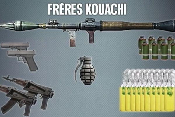 L'arsenal des frères Kouachi