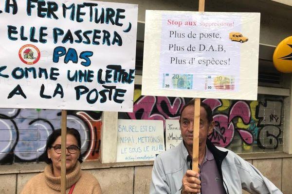 Montpellier : mobilisation contre la fermeture du bureau de poste du quartier Boutonnet - 19 octobre 2019.