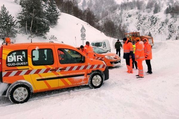 Le personnel de la Dirso intervient pour dégager la RN 20 en Ariège