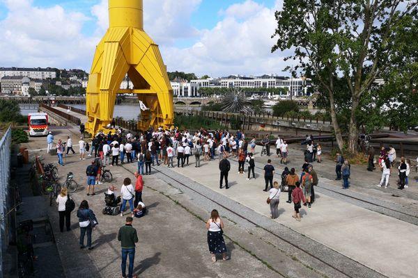 Marche blanche en hommage à Steve Maia Caniço, le 10 août 2019 à Nantes