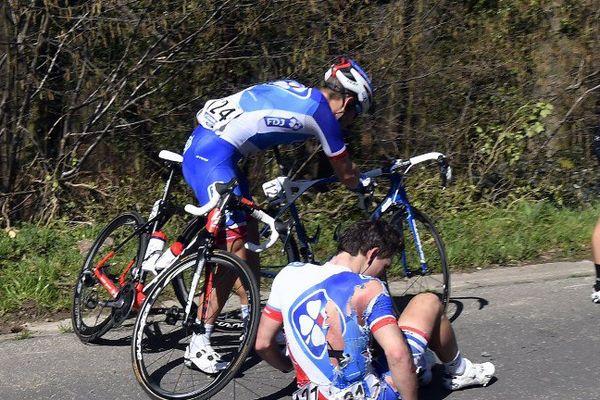 Arnaud Démare a dû abandonner après une chute sur le Tour des Flandres dimanche dernier.