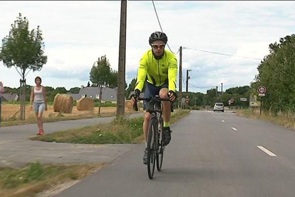 Tristan s'entraîne régulièrement sur les routes brétiliennes.