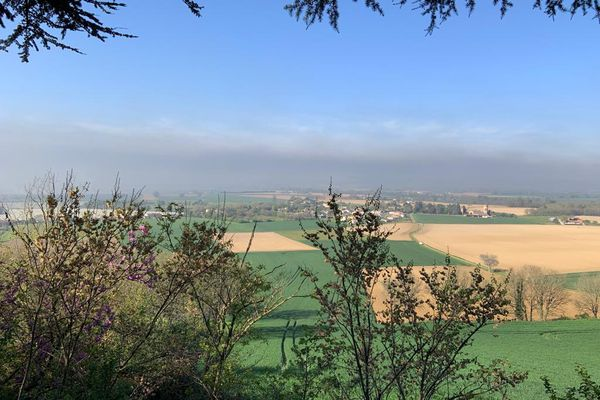 La plaine de Lavaur (Tarn) ce matin