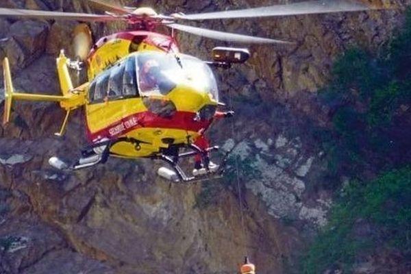 L'hélicoptère de la sécurité civile est intervenu