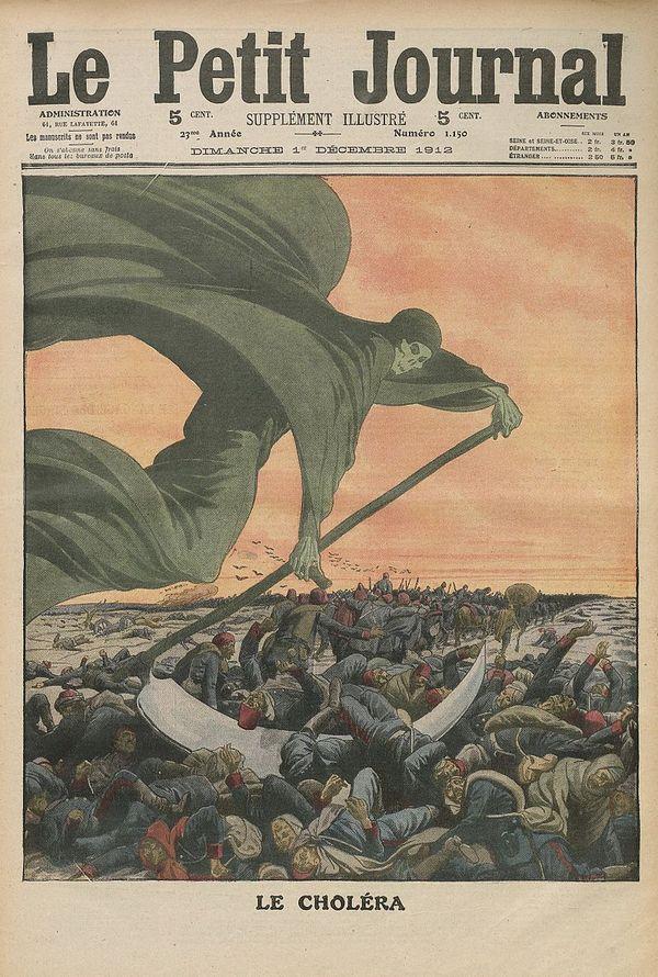 Le choléra en Russie, vu par Le Petit Journal, supplément illustré du 1er décembre 1912.