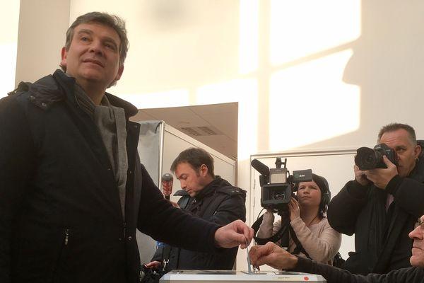 Arnaud Montebourg à Montret, le dimanche 22 janvier