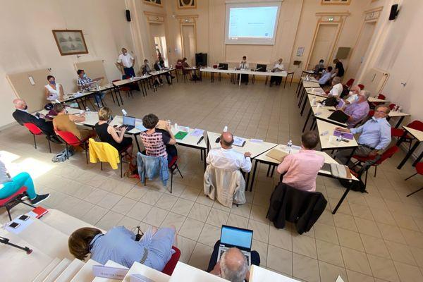 Election, mercredi 16 septembre 2020, de Mathieu Klein, maire de Nancy, à la présidence du Conseil de surveillance du CHRU de Nancy.