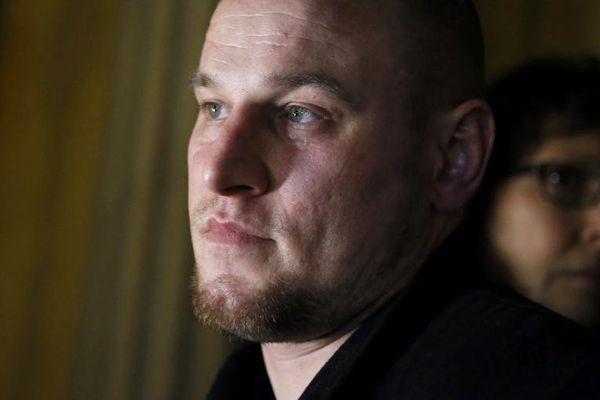 Marc Machin, le 20 décembre 2012, après avoir été acquitté du meurtre de Marie-Agnès Bedot.