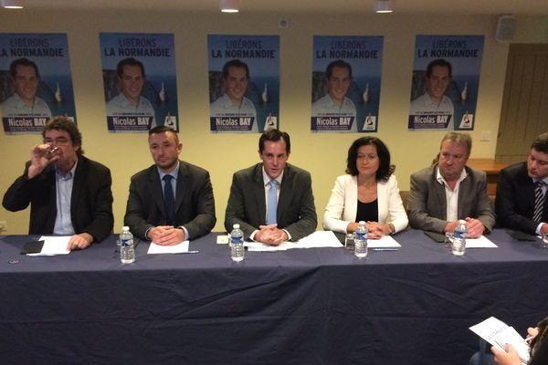 Les candidats FN aux régionales de décembre.
