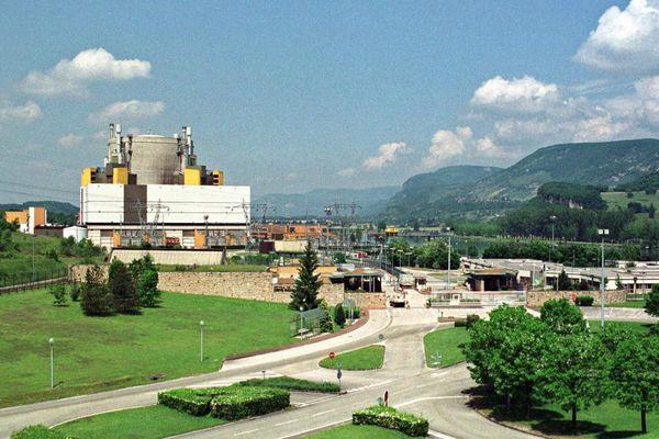 Le site de la centrale nucléaire de Creys-Malville (Isère), le 23 mai 2001.