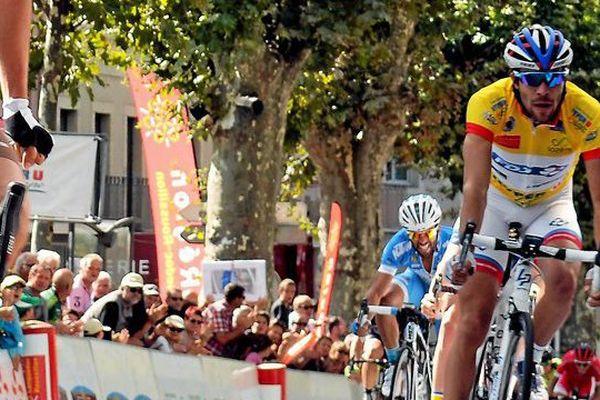 Thibaut Pinot remporte la 29ème édition du tour du Gévaudan en Lozère le 27 septembre 2015.