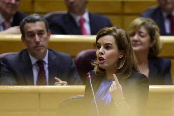 La vice-présidente du gouvernement espagnol,Soraya Saenz de Santamaria, a déclaré devant le sénat que le droit à l'autodétermination était impossible pour la Catalogne.