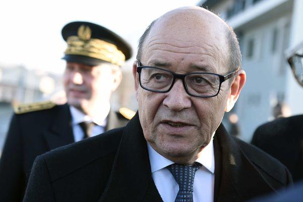 Jean-Yves Le Drian, ministre de la Défense, en janvier 2017