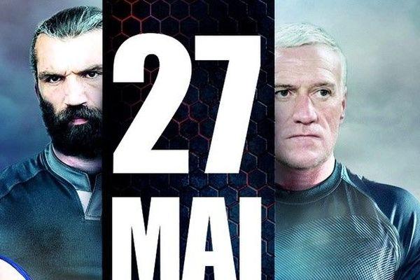 Les capitaines Sébastien Chabal et Didier Deschamps