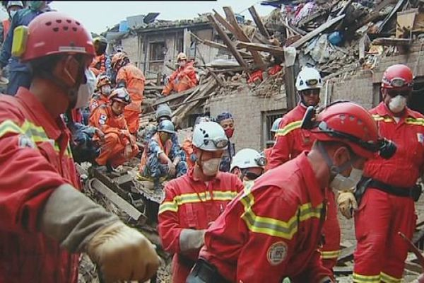 Les bénévoles de Secouristes Sans Frontières sont intervenus au Népal lors du tremblement de terre.
