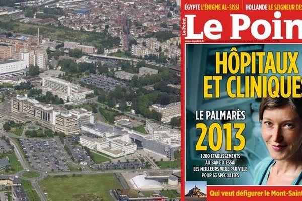 Le CHR de Lille vu du ciel et le une du Point.