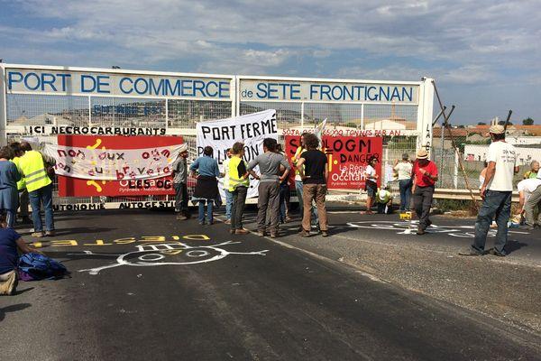 Les Faucheurs volontaires dénoncent l'importation de colza transgénique - 10 juillet 2017.