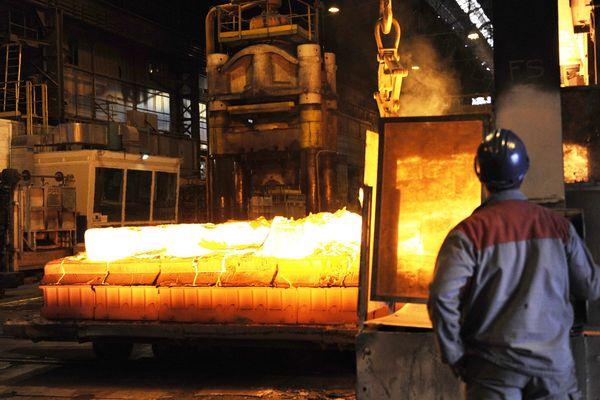 L'usine Aubert et Duval aux Ancizes, dans le Puy-de-Dôme.