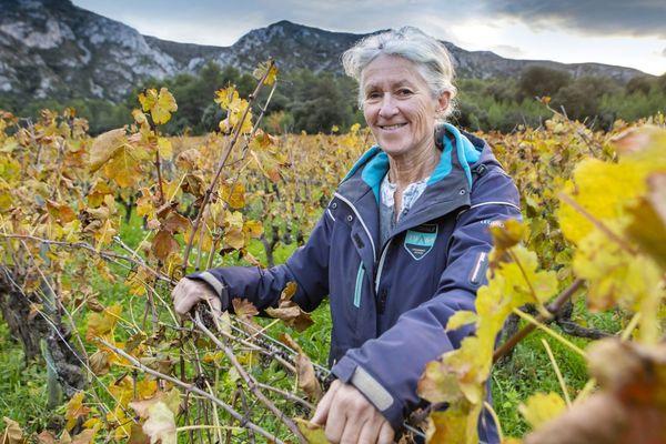 Dominique Hauvette, dans son domaine des Baux-de-Provence, a été nommée Vigneronne de l'année par la Revue des vins de France