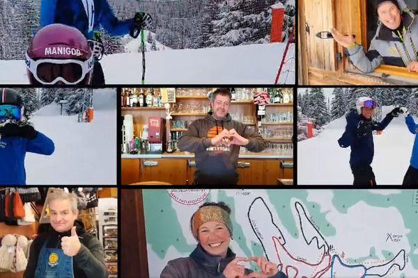 """Une centaine de professionnels de la montagne ont enregistré le clip """"Tous solidaires"""", comme un message d'espoir en pleine crise sanitaire."""