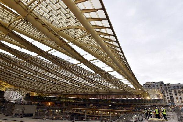 La Canopée des Halles, encore en chantier, en janvier 2016.