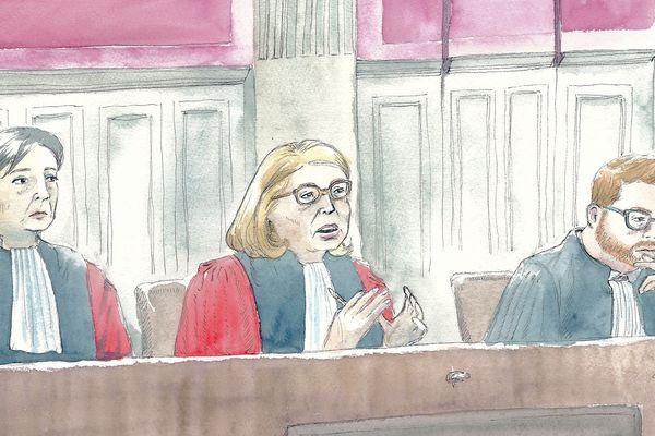 Les magistrats de la cour d'assises de la Somme lors du procès de Willy Bardon, le 21/11/2019