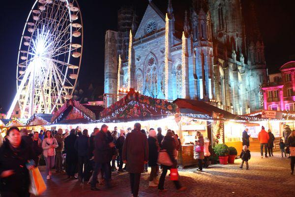 Le marché de Noël de Mulhouse en 2019, l'édition 2020 ayant été annulée à cause du covid