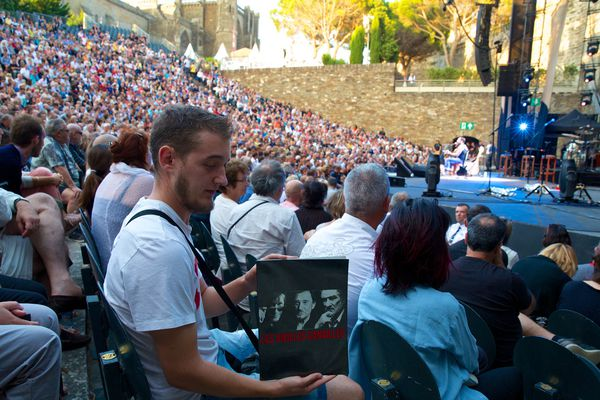 Concert de Johnny Hallyday en juillet 2017 à Carcassonne