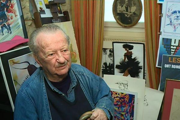 Alain Carrier au milieu de ses créations, image d'archives.