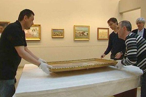 """tableaux Musée des beaux-arts de Caen, expo """"au fil de l'eau"""""""