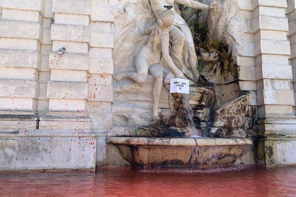 Fontaine Saint-Michel à Toulouse, ce dimanche matin
