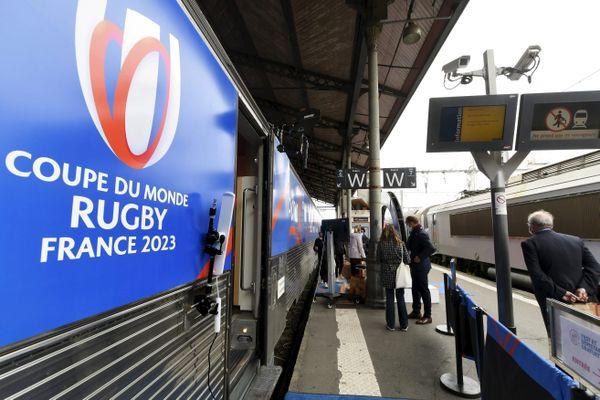 """Le train de la Coupe du monde de rugby 2023, le """"We Love 2023 Tour"""", s'arrêtera en gare de Tours ce lundi 5 octobre. Photo d'illustration"""