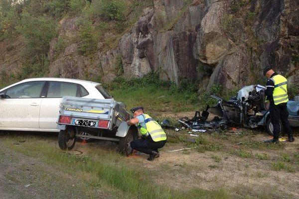 l'accident s'est produit sur la départementale 920 à la sortie d'Ambazac