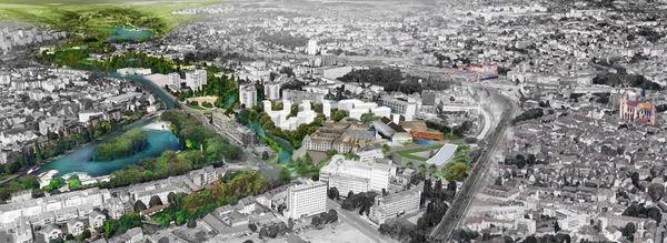 Entre le port du canal et le centre-ville, la Cité internationale de la gastronomie aura un emplacement stratégique.