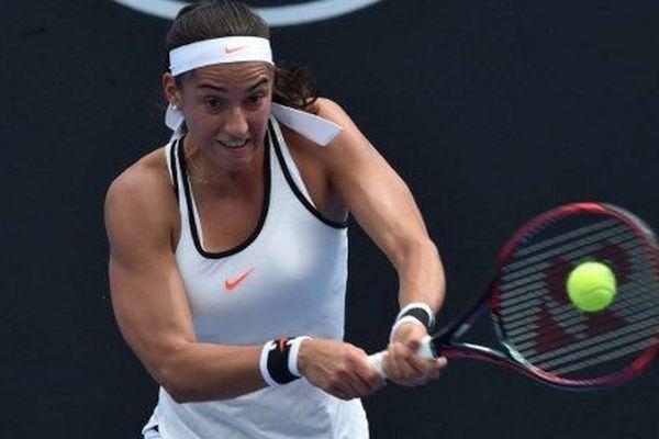 Caroline Garcia lors de ce premier match de l'Open d'Australie.