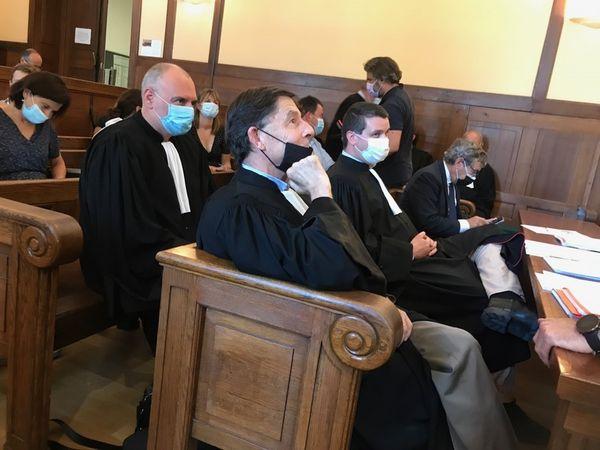 Les avocats de Cassandre Fristot François Wagner et Paul Yon.