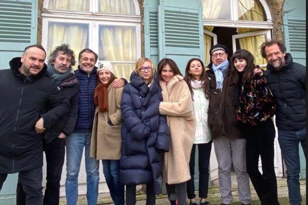 Les comédiens du prochain film de Nicolas Vannier tourné dans la Marne en avril 2021.