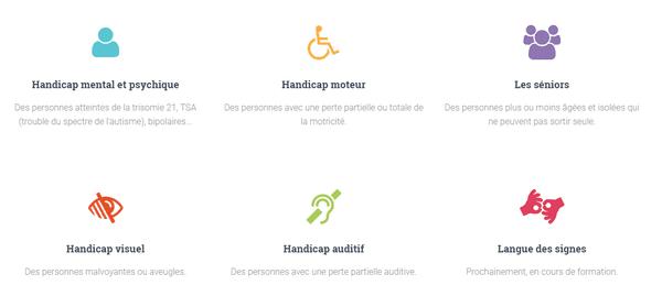 Marie Fournier peut accompagner des personnes atteintes de multiples handicaps