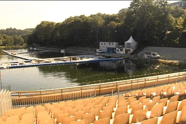 La base du Traspy, à Thury-Harcourt, qui accueillera la semaine prochaine les matchs des championnats du monde de kayak-polo