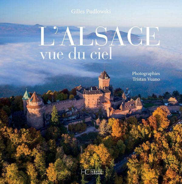 Couverture du livre l'Alsace vue du ciel