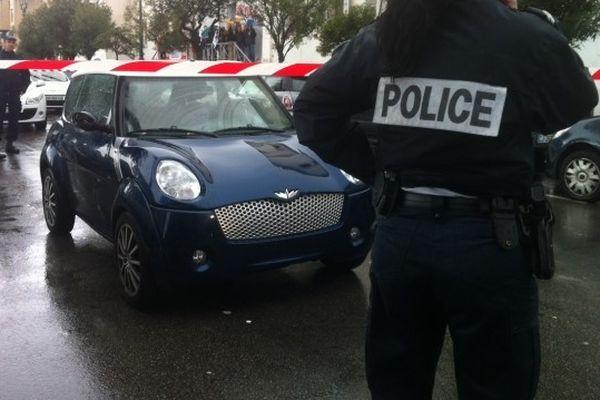 L'homme a été pris pour cible dans son véhicule mardi matin vers 10h30 à Ajaccio