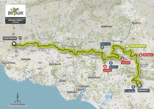 Parcours de la troisième étape du Tour de Bretagne 2021