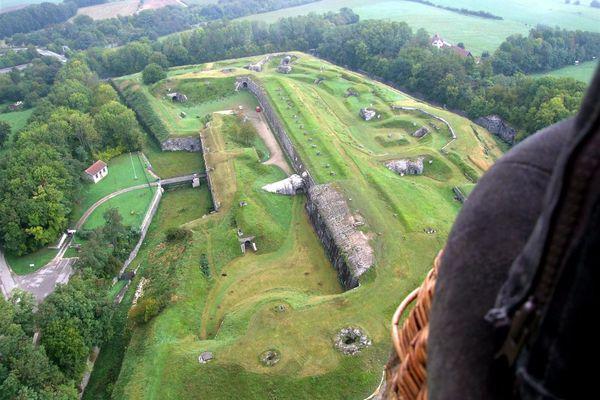 Le fort de Bessoncourt, vu du ciel.
