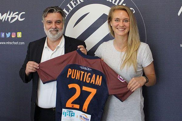 Sarah Puntigam signe au MHSC où elle portera le numéro 27