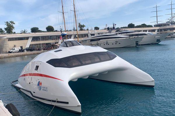 La future navette maritime qui assurera en mai la liaison Monaco-Vintimille est arrivée.
