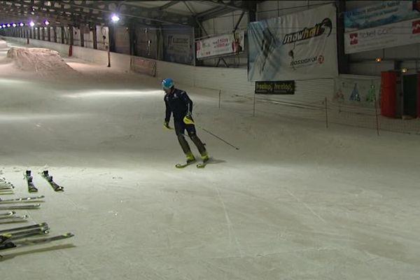 Des skieurs Italiens à Amnéville