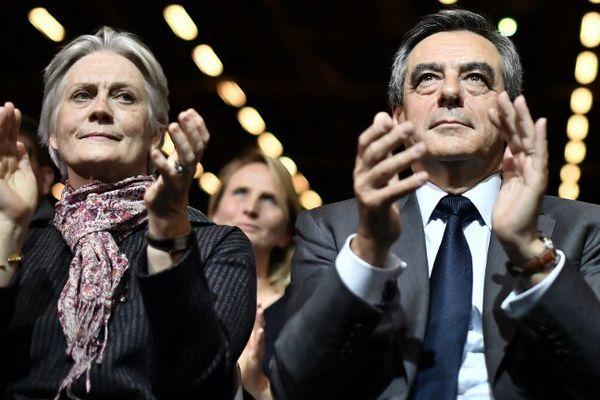 Penelope et François Fillon le 25 novembre 2016