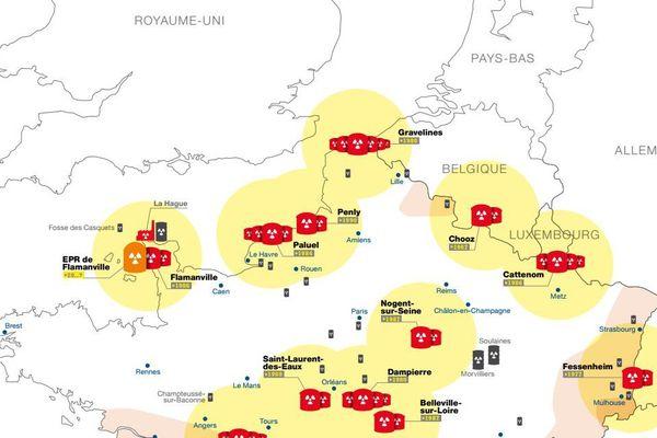 Les Hauts-de-France sont à la fois menacés par la centrale de Gravelines et par celle de Penly, dans la Manche.