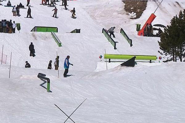 La station de ski de Font Romeu, dans les Pyrénées-Orientales - 9 avril 2017